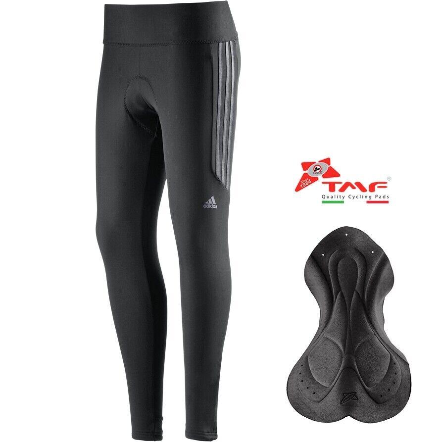 Adidas RSP Damen Winter Radhose Thermo Fahrrad Hose warm Sitzposter lang schwarz