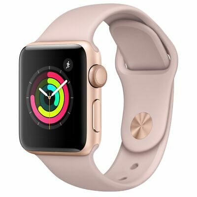 Apple Watch Series 2 38mm Rose Gold Aluminium Case Pink Sand Sport Band GRADE C