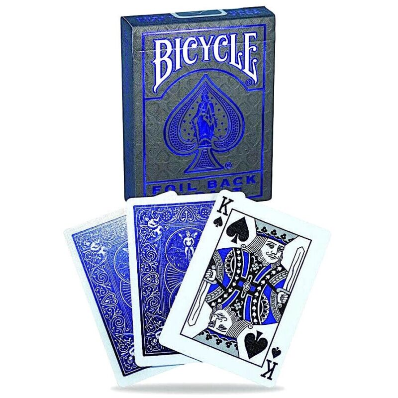 Bicycle MetalLuxe FOIL BACK COBALT BLUE Playing Cards - SEALED! - BEST PRICE!!