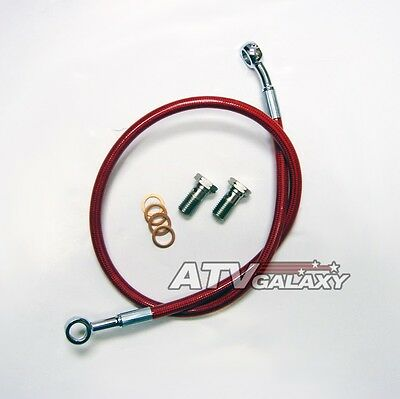 Streamline Red Rear Brake Line Steel Braided Honda TRX450R TRX 450R TRX450ER 450