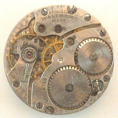 Vintage Waltham Special Mechanical Pocket Watch Movement - Parts / Repair