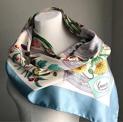 "Gucci Vintage 100% Silk Scarf by Vittorio Accornero 34"" X 34"""