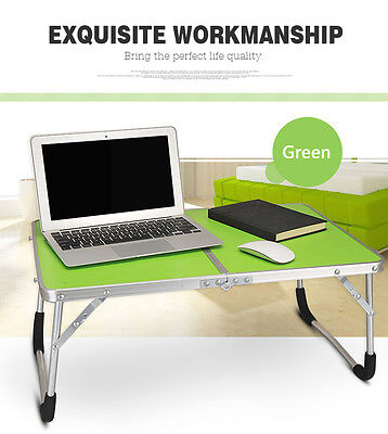Green Portable Folding Table Laptop PC Notes Desk Stand Notebook Side Bed Tray