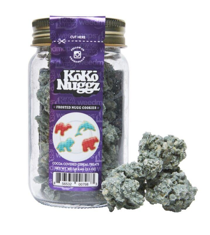 KOKO NUGGZ FROSTED NUGG COOKIES (60g) (2.1OZ) Buds flower dank cookies (no thc)