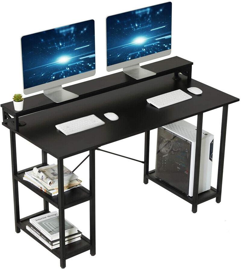 Gaming Desk Computer Desk Studying Writing Desk Printer Monitor Shelf CPU Stand