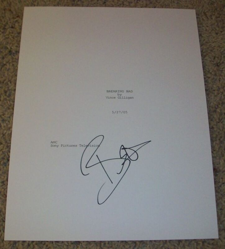 BETSY BRANDT SIGNED BREAKING BAD 58 PAGE FULL PILOT SCRIPT EXACT PROOF AUTOGRAPH