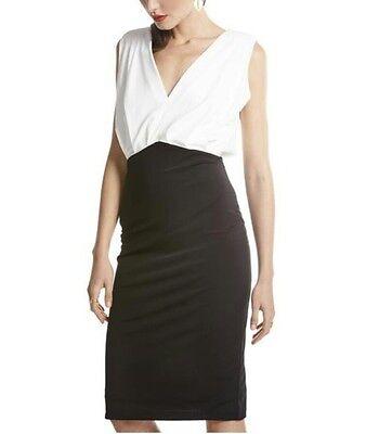 Vestido invitada bicolor blanco y negro para boda,bautizo,comunion t.L
