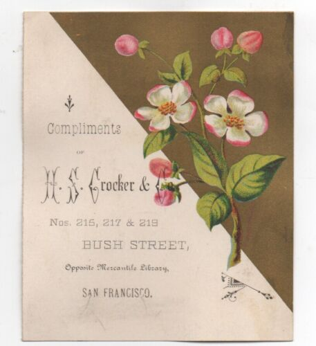 1880s Trade Card H.S. Crocker & Co San Francisco Note Papers & Envelopes