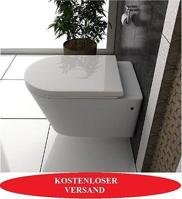 Wand-Hänge WC/Toilette Bad Keramik SoftClose Sitz Randlos TITO Weiß