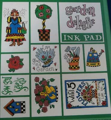 Inkadinkado Garden Delight Rubber Stamp Collection Set of (Inkadinkado Garden)