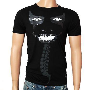 VSCT Seduction Horror Herren T-Shirt schwarz Grusel T Shirt Jersey Pailletten