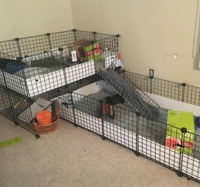 Dog Hound Pet Animal (Pet Playpen Panels Small Animals Dog Big Guinea Pig Giant Rabbit Cage Fence Yard )
