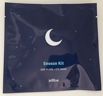 Sleep Eye Mask & Ear Plugs,JetBlue Snooze Kit NEW,SEALED,Travel,Plane