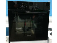 c099 black bosch single electric oven comes with warranty can be delivered or collected
