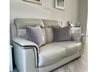 genuine leather sofa and armchair