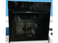 d099 black bosch single electric oven comes with warranty can be delivered or collected