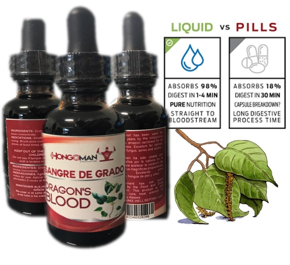SANGRE DE grado 100%  Antinflammatory gastritis PURE DRAGON'S BLOOD VITAL 30ml
