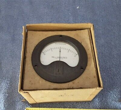 Vintage Nos 3-12 Westinghouse Electrical Meter - 10 Ma Dc