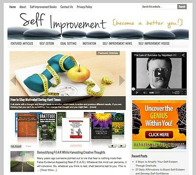* SELF IMPROVEMENT * turnkey website business for sale with AUTOMATIC CONTENT