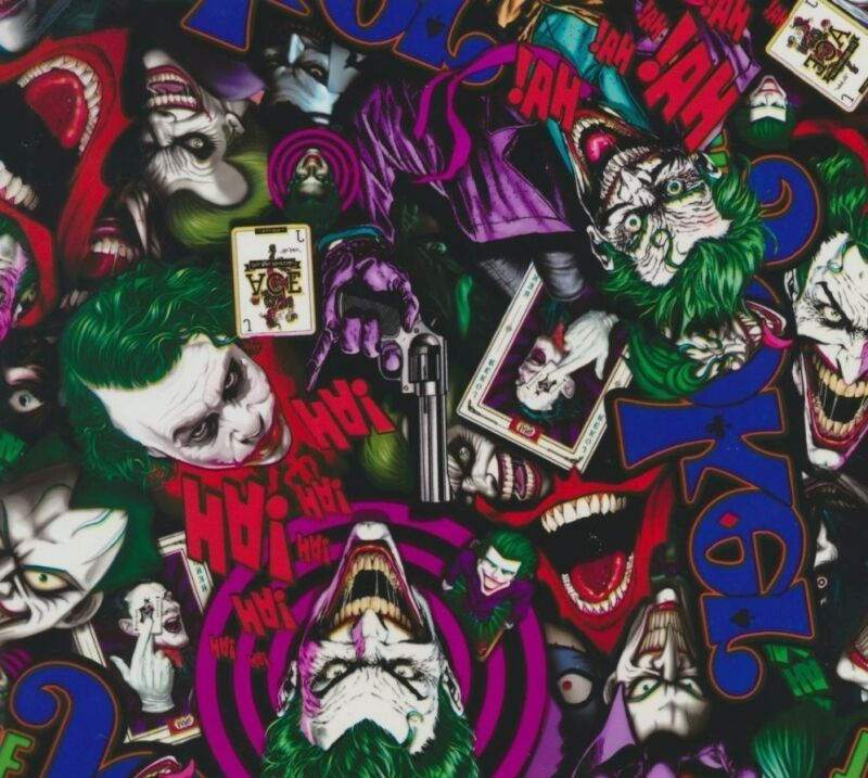 HYDROGRAPHIC WATER TRANSFER HYDRODIPPING FILM HYDRO DIP THE JOKER COLOR 1M