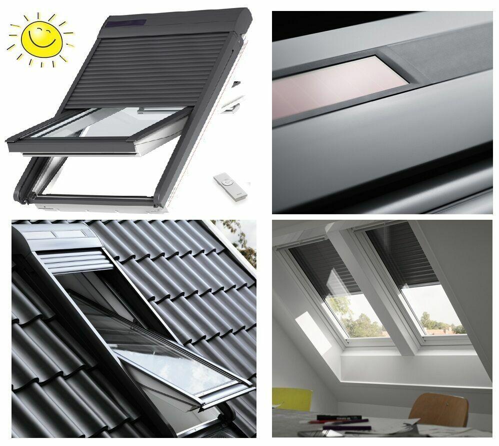 Solar-Rollladen VELUX SSL 0000S Integra Dachfenster Elektro Außenrollladen SML