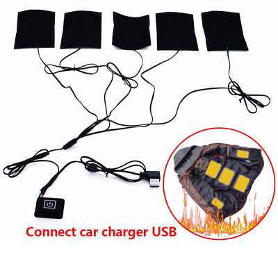 USB Heated Jacket Coat Vest Accessories Carbon Fiber Heated Pads Warm Back Neck Usb Flex Neck