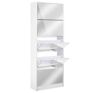 Mirrored Shoe Cabinet Storage 5 Drawers Shelf Perth Perth City Area Preview