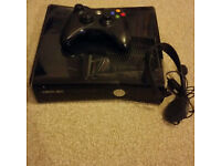 Microsoft Xbox 360 Slim 250 GB Black Console with 34 Top Games + Accessories