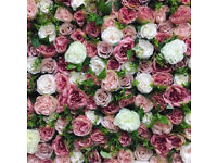 Hire a luxury flower wall for your wedding or event