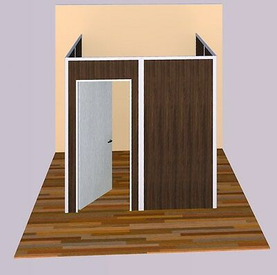 Sunwalls Modular Walls - 3 Walled U Shaped Room Of Standard Walls 8x8
