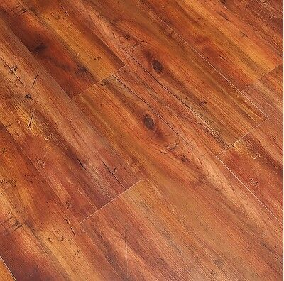 Vinyl Board Flooring Luxury Laminate Click Hickory Wood Grain Bath Kitchen Floor