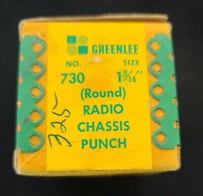 Vintage Greenlee Radio Chassis Punch No. 730 1 516 Size - Hard To Find