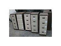 Beige A/4 Anti Tilt Lockable 4 Drawer Metal Filing Cabinet + 2 Keys