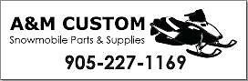 Snowmobile & trailer parts, and accessories by A&M Custom.