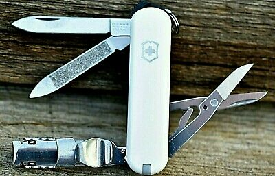 Victorinox NAIL CLIP 580 WHITE Original Swiss Army Knife Nail Clippers NEW!