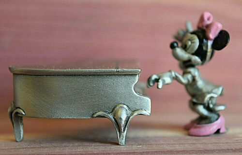 Disney Hudson Fine Pewter Figurine Minnie Mouse With Piano New MINT Condition