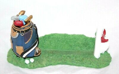 Rainbow Mountain Inc Golf Bag Clubs Ceramic Post It Note Business Card Holder