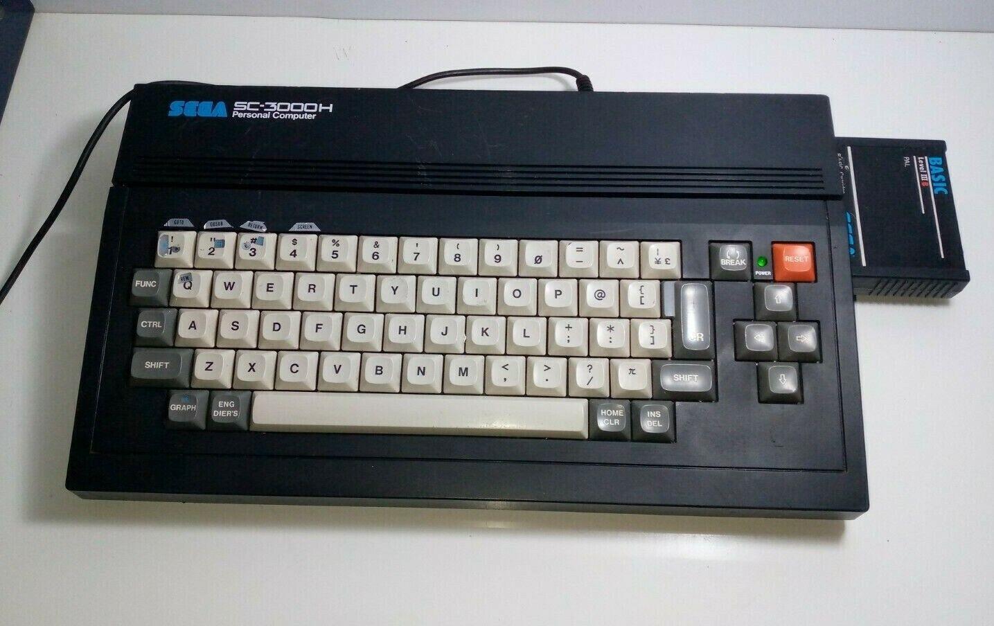 RARE SEGA SC-3000 H Vinatge Computer Gaming Conso…