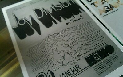 Joy Division repro promotional A3 super quality heavy canvas paper print poster