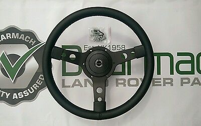 Land Rover Defender 90, 14 inch Steering Wheel, With 36 Spline Boss adapter