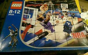 Lego NBA Sports Basketball 3433 set box + instructions used + 3428 Shaq Kobe