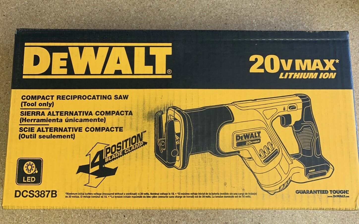 DeWALT DCS387B 20V Max* Cordless Compact Reciprocating Saw
