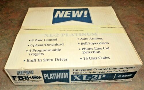 NEW FBII XL-2P Platinum 8 Zone Fire Burglary Alarm Control Communicator Panel