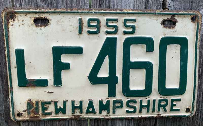 VINTAGE 1955 NEW HAMPSHIRE LICENSE PLATE #LF460