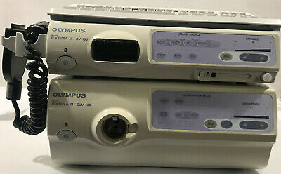 Olympus Cv-180 Processor Clv-180 Light Source System With Pigtail And Keyboard
