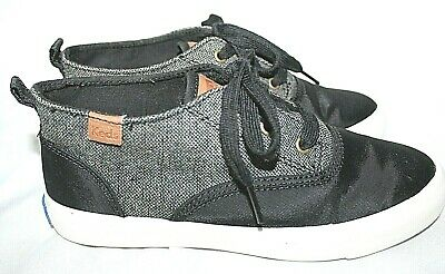 KEDS Black & Gray Twill & Nylon Kids Mid Top Sneakers Size 5.5 60% Off (Gray Nylon Twill)