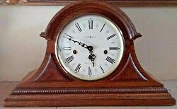 Vintage Howard Miller 340 020A Mantel Clock Westminster Chime w/Key 18 x 11 x 6