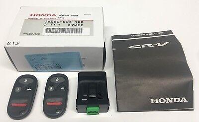 Genuine Honda OEM - CR-V LX Keyless Entry Kit 2 Remote Fabs - 08E60-S9A-100