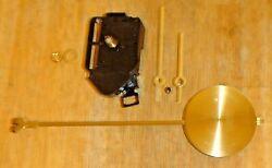 Vintage Seth Thomas Quartz Wall Clocck Movement, Hands, Nut, Pendulum & Hardware
