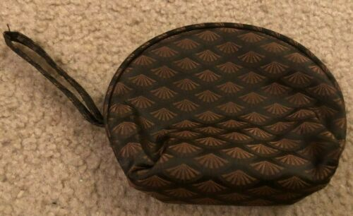 Unbranded Cosmetic Bag with Mirror - Brown - Make-up Case - Cute!